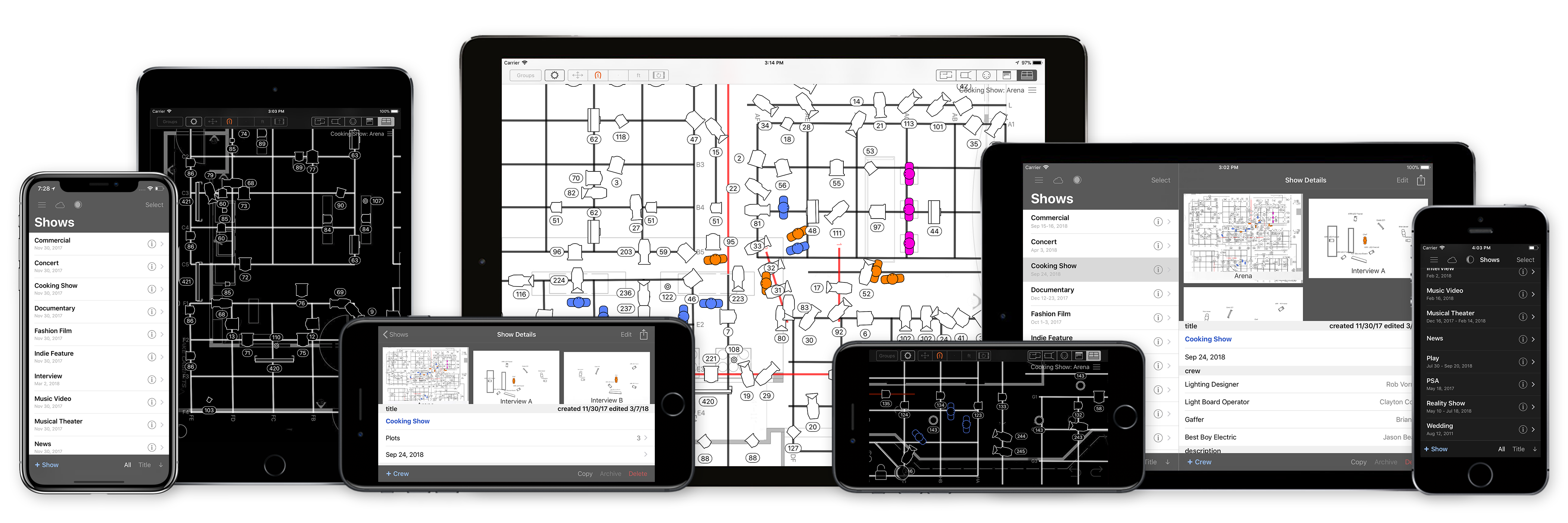 Lighting Designer lighting plots for iOS